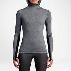 Nike Tops - Nike Pro Hyperwarm Women's Hoodie Grey Large NWT