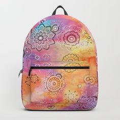 Stars Backpack by laurafrere Fashion Backpack, Backpacks, Stars, Nature, Stuff To Buy, Mandalas, Naturaleza, Backpack, Sterne