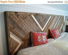 ON SALE reclaimed wood headboard, upcycled wood headboard (king sized, other sizes available at reduced prices)