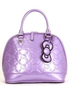 New Sanrio Loungefly Purple Rhapsody Patent Hello Kitty Embossed Bag Purse Tote Ebay
