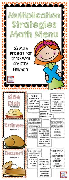This math menu choice board is the perfect way to challenge and enrich students while encouraging creativity.