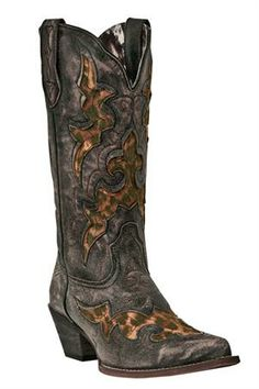 Laredo Aphrika Leopard Print Distressed Cowgirl Boots #Vintage