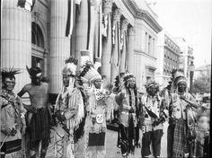 Flathead men attending the National Indian Congress (Spokane, Washington) - 1926