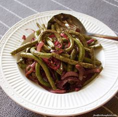 Roasted Green Beans - upgrade your Thanksgiving side dish Roasted Green Beans, Crispy Onions, Mean Green, Green Bean Casserole, Thanksgiving Side Dishes, Food For Thought, Asparagus, Vegetables, Studs