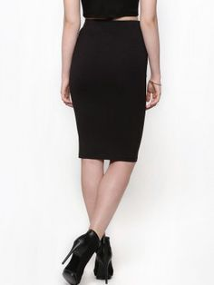 KOOVS Jersey Pencil Skirt buy from koovs.com | skirts online ...