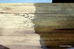 Learn how to make new or unfinished wood look like it is old/reclaimed/aged wood using only THREE things from your home!!