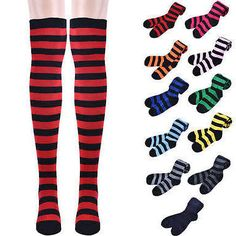 striped thigh high socks - Google Search