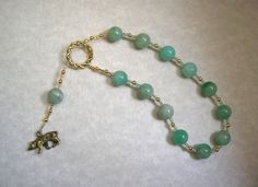Artemis Pocket Prayer Beads in Amazonite: Greek Goddess of the Wilderness and Animals, Goddess of the Hunt, Protector of Young Women & Girls by HearthfireHandworks on Etsy