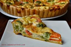 Vegetarian Recipes, Cooking Recipes, Healthy Recipes, Healthy Food, Romanian Food, Quiche, Good Food, Food And Drink, Favorite Recipes