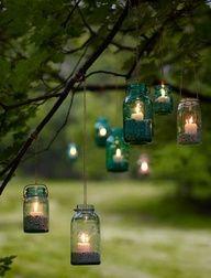 Cositas Decorativas: Quiero un jardín para llenar de candelabros