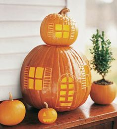 Pumpkin House. Maybe with some little black mice?
