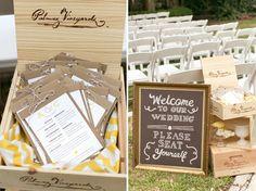 Rustic Wedding Ceremony Programs. Allison & Chris » WedLoft