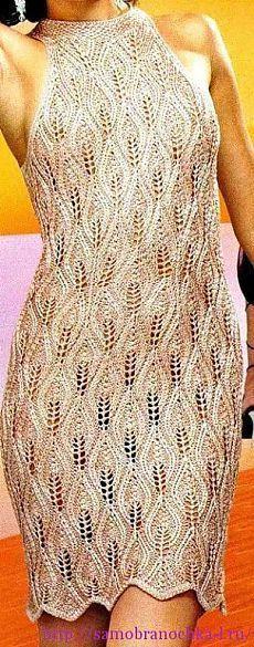 Ажурные платья спицами