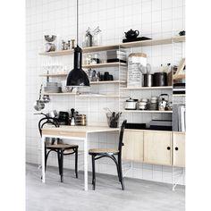 String hylleplate 3-p 78x30 String - Kjøp møbler online på ROOM21.no