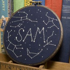 Constellation embroideries (this is for a little boy's room)