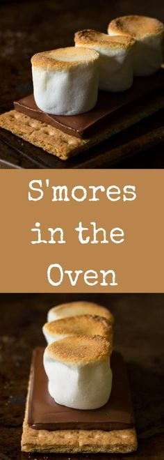 It's so easy to make smores in the oven! Make as many or as few as you want in just SECONDS with this super simple recipe. Fast and delicious! via @recipeforperfec