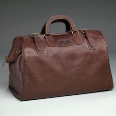 The Leather AWOL Bag is like the one your Dad carried when the Army shipped him overseas in 1943.