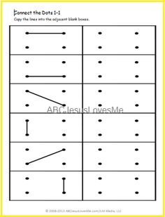 Printable dot grid imitation worksheets, progressively more difficult.