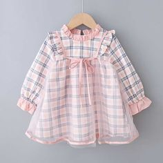 Pink Baby Toddler Plaid Mesh Splicing Long Sleeve Cute Dress - 2 3 YEARS Source by maykalakids to wear to a wedding teenager Frocks For Girls, Toddler Girl Dresses, Little Girl Dresses, Girls Dresses, Summer Dresses, Fall Dresses, Baby Girl Dress Patterns, Baby Dress Design, Frock Design
