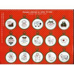 15 Mini Christmas Cross Stitch Patterns Animals Holly Stars