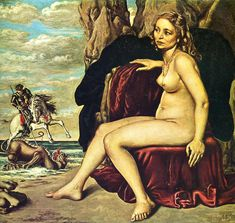George Killing the Dragon Artist: Giorgio de Chirico Completion Date: 1940 Place of Creation: Rome, Italy Italian Painters, Italian Artist, Magritte, Dali, Saint George And The Dragon, Portrait Art, Portraits, Les Oeuvres, Painting & Drawing