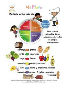 Mi Plato Colores de Los Grupos Alimenticios