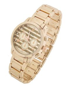 Rose Gold Tone / Lead&nickel Compliant / Stainless Steel Back / Metal / Foldover Clasp / Watch