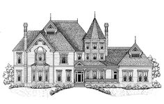 Eplans Queen Anne House Plan - High-Style Victorian - 7747 Square Feet and 5 Bedrooms from Eplans - House Plan Code A few changes would have to be done, but otherwise I love this Luxury House Plans, Dream House Plans, House Floor Plans, Dream Houses, Manor Houses, Victorian House Plans, Victorian Style Homes, Victorian Design, I Love House