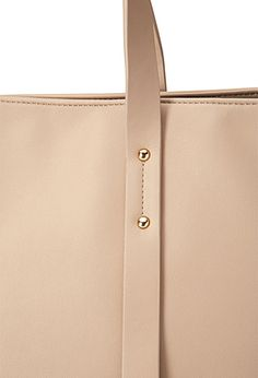 Double-Strap Tote Bag | FOREVER 21 - 1000101016