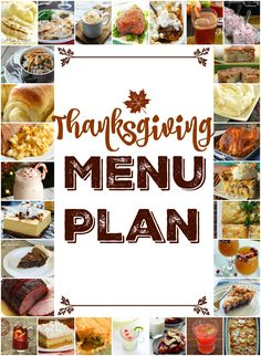 Thanksgiving Menu Pl