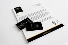 Designer Look Book Letterhead and Business Card Design.