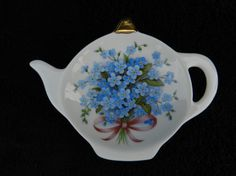 Tea Bag Holder: Hand Decorated Porcelian by GeorgiasVictorian Tea Accessories, Teas, Tea Time, Tea Pots, Forget, Porcelain, Plates, Free Shipping, Tableware