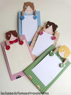 Another idea for a note pad holder for mom La classe della maestra Valentina: festa della mamma