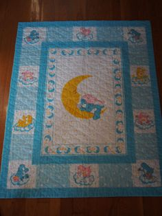 Care Bears Baby Bedtime Bear Quilt https://www.etsy.com/shop/AmeliaBabble