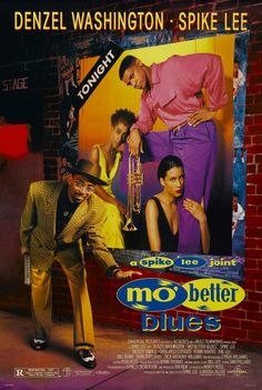 Mo' Better Blues is a 1990 film starring Denzel Washington, Wesley Snipes, and Spike Lee, who also directed. It follows a period in the life of a jazz trumpeter Bleek Gilliam (played by Washington) as a series of bad decisions result in his jeopardizing both his relationships and his playing career. The film focuses on themes of friendship, loyalty, honesty, cause-and-effect and ultimately salvation. It features the music of the Branford Marsalis quartet and Terence Blanchard on trumpet.