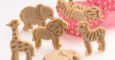 Animal Cookies Recipe - to go with Animal Cookie cutters. Readers said to use regular vanilla flavoring, not the one suggested in the recipe. Animal Cookies Recipe, Ginger Bread Cookies Recipe, Animal Crackers, Candy Recipes, Cookie Recipes, Flour Recipes, Eggless Recipes, Baking Recipes, Gluten Free Gingerbread Cookies