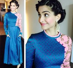 Sonam Kapoor Wearing Indian Designer Dresses in 2014- Sonam Kapoor wearing Tanya Sharma