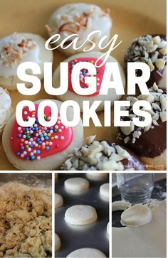 EASY SUGAR COOKIES - You'll love this easy sugar cookie recipe! I'll show you how to get three different amazing cookies from just one batch of delicious dough!