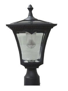 Lily's Home Solar Lamp Post Light - Coach Light with a Deck Mount Solar Lamp Post Light, Lamp Post Lights, Outdoor Post Lights, Outdoor Lighting, Landscape Lighting, Exterior Lighting, Home Lighting, Kitchen Lighting, Coach Lights