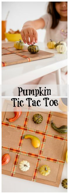 DIY Pumpkin Tic Tac Toe