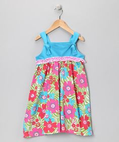Take a look at this Turquoise Zoology Frolic Dress - Girls by Corky's Kids on #zulily today!