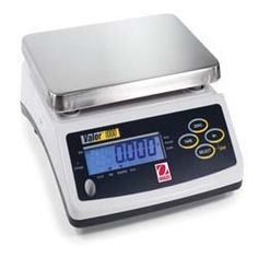 Ohaus Valor 1000 Compact Bench - Portion Control Scale V11P30 (66 lb x 0.02 lb / 5 g) by Ohaus. $178.50. Units: lb, oz, kg, g. Capacity: 66 lb (30 kg) Increments: 0.02 lb (5 g). Features removable stainless steel platter, sized 9.9 x 7.1 inches.. 1 year factory warranty. Ships direcly from Ohaus in New Jersey.. Includes tare, checkweighing (over/under) mode, accumulation mode and multiple units of measure.. Powered by 80-hour rechargeable battery or AC adapter (incl...