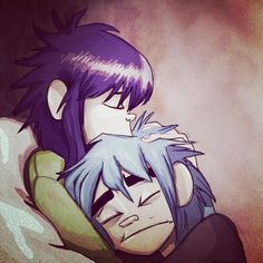 my hard core ship, reminds me of my relationship❤️ #2d #noodle #2dxnoodle…