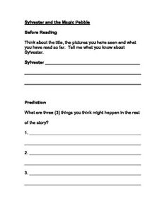 Printables Sylvester And The Magic Pebble Worksheets sylvester and the magic pebble sequencing worksheet book club reading comprehension