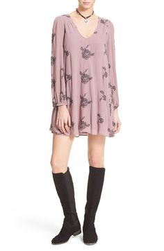 Free People 'Emma's' Embroidered Swing Dress available at #Nordstrom