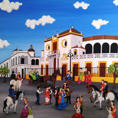 La Maestranza de Sevilla 100x100 cms Óleo sobre lienzo