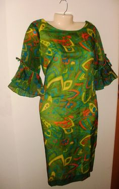 Vintage Summer Shift Dress, Cat Cay of Miami, Resort Clothing FREE Shipping in USA