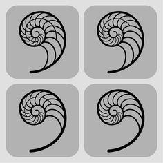Fibonacci Spiral designs by Karianne Hutchinson Illustration Nautilus shell nautilus spiral vector art design spiral tattoo