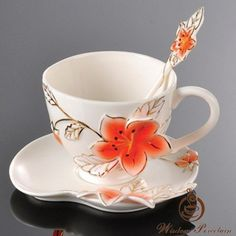 Image detail for -... flower franz porcelain cup and saucer with spoon(2)_Wisdom Porcelain