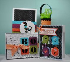 Simple fun punch art halloween projects using Owl Builder punch from Stampin' Up! created by Erin Gonzales with Hand Stamped Style, THANKS f...